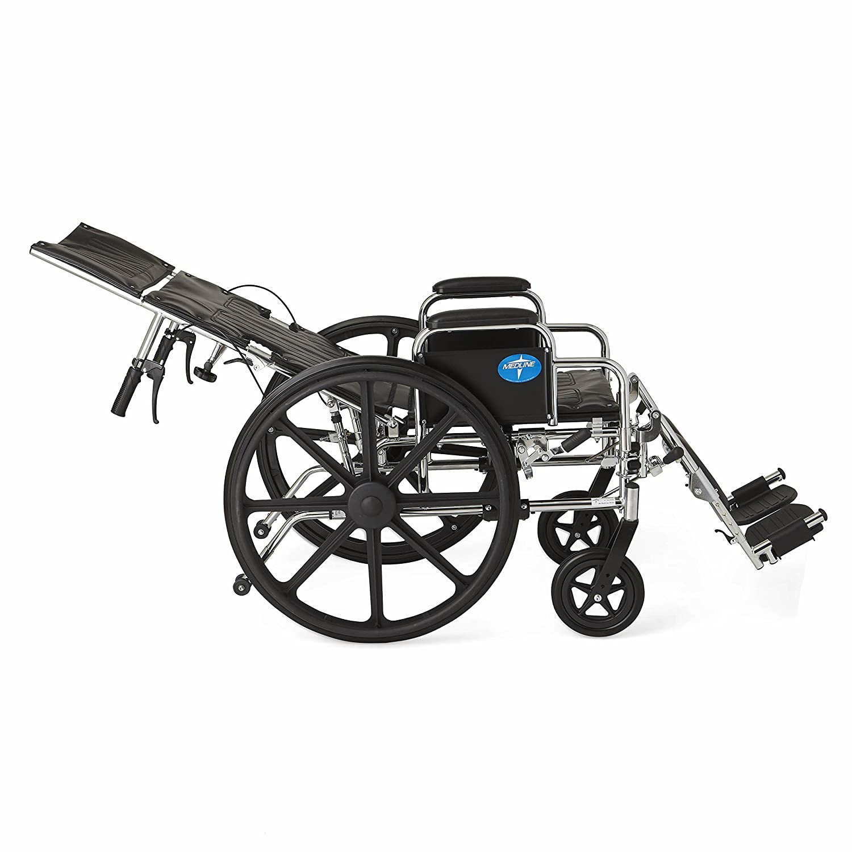 Amazon.com Medline Reclining Wheelchair 18  Wide Seat Desk Length Arms Elevating Legrests Chrome Frame Health u0026 Personal Care  sc 1 st  Amazon.com & Amazon.com: Medline Reclining Wheelchair 18