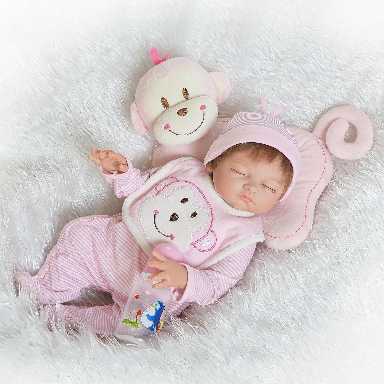 NPK collection Muñeca bebé recién nacido 52 cm 21 pulgadas, muñeca realista bebé recién nacido de juguete regalo para niñas princesa juguetes para niños regalo de cumpleaños regalo de navidad
