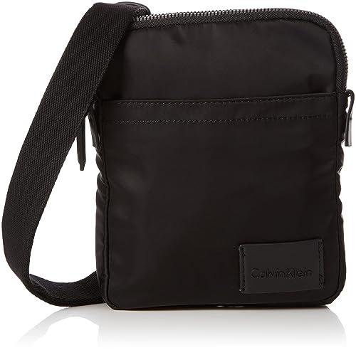 60adf3b9497 Calvin Klein Ease Mini Reporter, Men's Shoulder Bag, Black, 4x20x17 cm (B