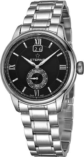 Eterna Reloj de Hombre Cuarzo Correa y Caja de Acero 2971-41-46-1704: Amazon.es: Relojes