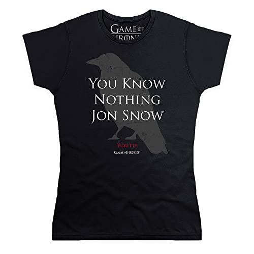 Game Of Thrones Official You Know Nothing Jon Snow Quote Camiseta, Para Mujer