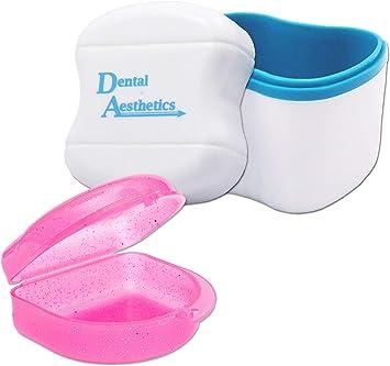 Caja de almacenamiento y retención dental ~ Estuche de almacenamiento y contenedor para remojar retenedores de ortodoncia, aparatos dentales deportivos, dentaduras y más: Amazon.es: Salud y cuidado personal