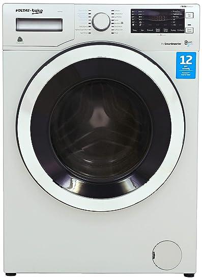 Voltas Beko 8 kg Inverter Washer Dryer (WWD80S, Grey) Washing Machines & Dryers at amazon