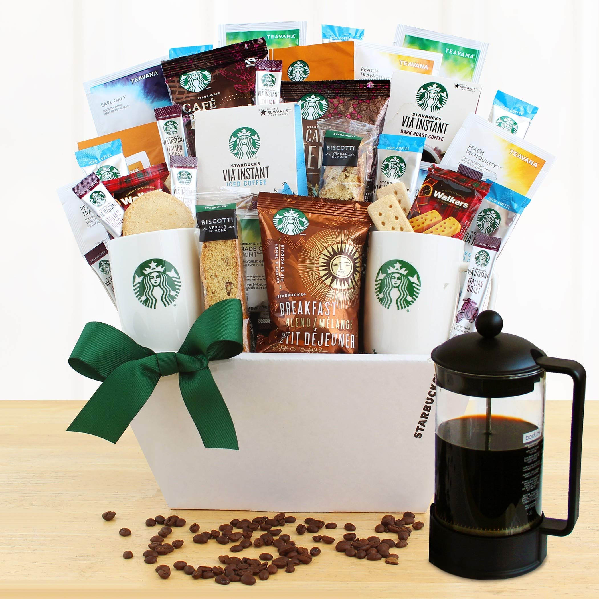 Starbucks Coffee & Biscotti Gourmet Gift Basket   The Coffee Lovers Coffee Gift Baske