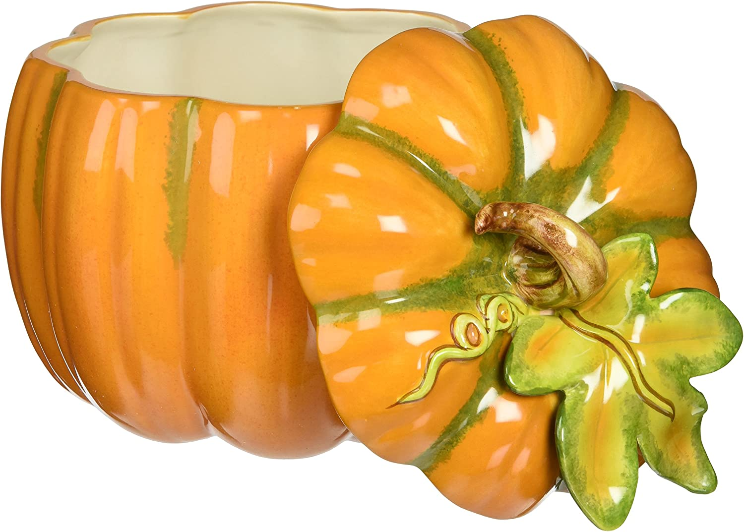 Amazon Com Cosmos Pumpkin Jar Orange Home Kitchen