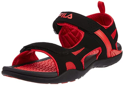 7a5a8db30639 Fila Men s Energy Black and Red Sandals and Floaters -8 UK India (42 ...