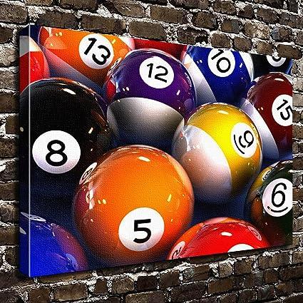 Amazon Com Colorsforu Billiard Balls Game Custom Canvas