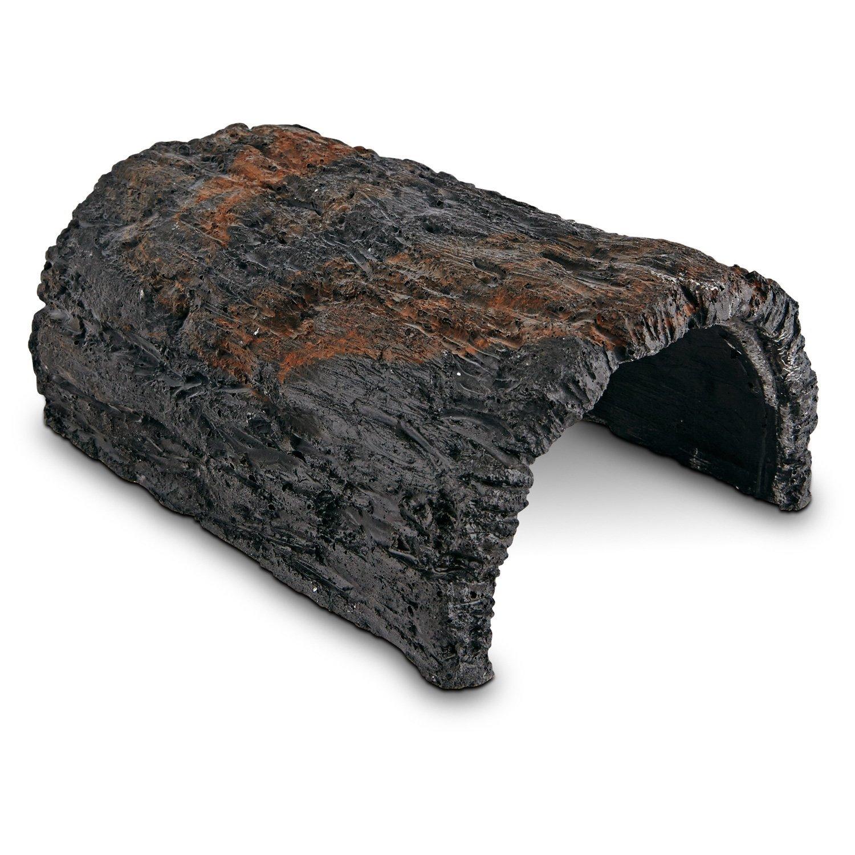 Conceptual Creations Bark Log Reptile Hideaway Black