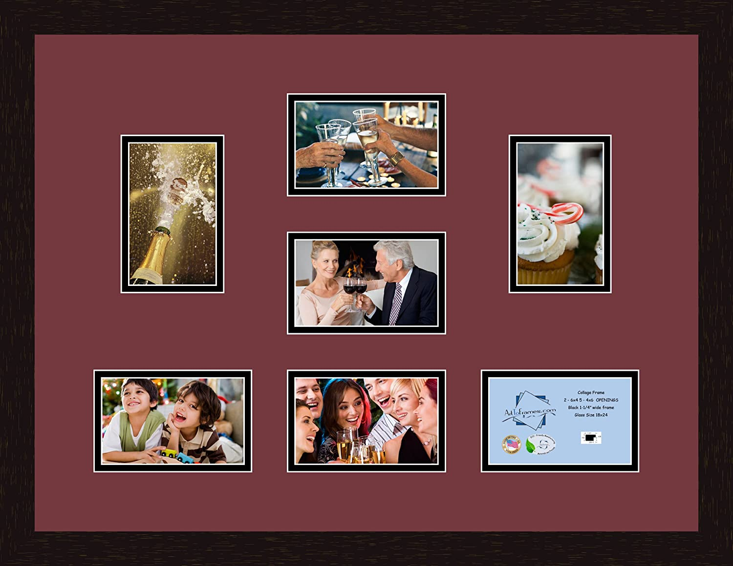 Art to Frames Double-Multimat-346-594/89-FRBW26061 Collage Frame ...