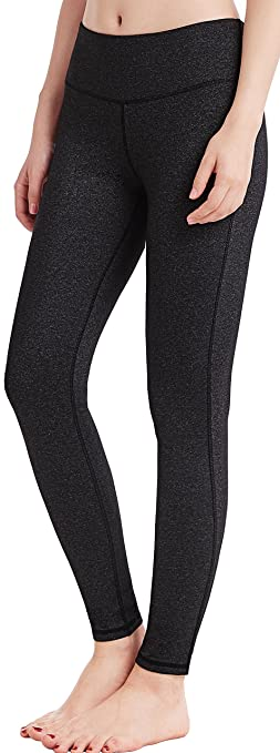 Oalka Women Power Flex Yoga Pants Workout Running Leggings - All Colors Heather XS