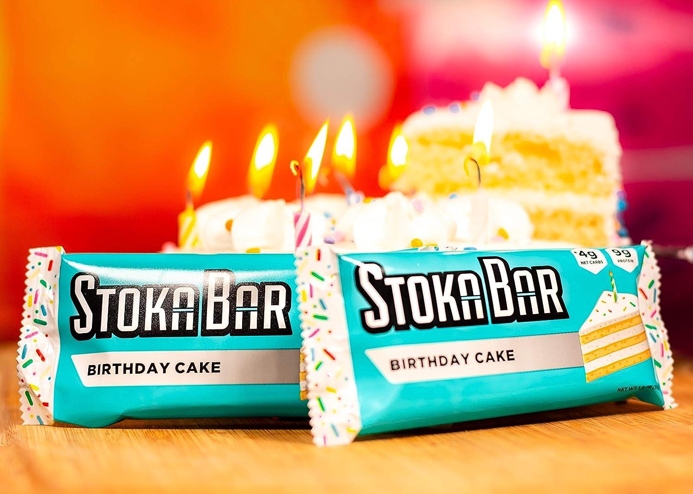 Pleasant Amazon Com Stoka Bars Birthday Cake All Natural Low Carb Personalised Birthday Cards Paralily Jamesorg