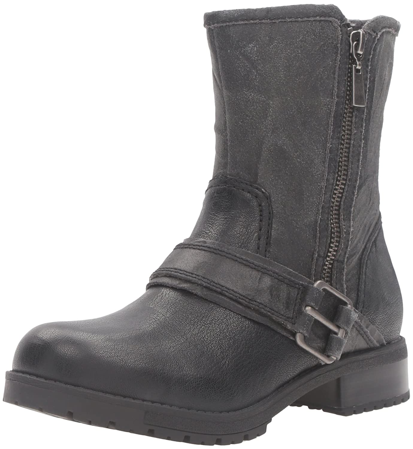 CLARKS Women's Faralyn Rise Boot B0198WE420 5.5 B(M) US|Black Nubuck