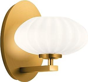 Kichler 52229FXG PIM Wall Sconce, 1-Light, Fox Gold