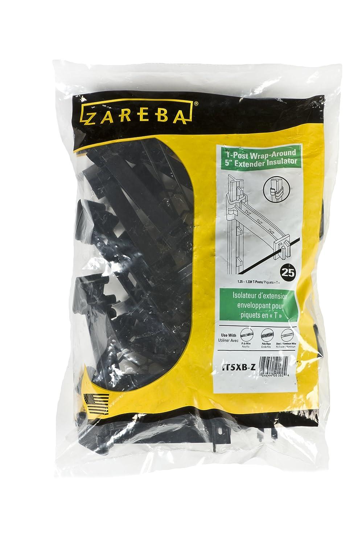 Zareba IT5XB-Z Snap-on 5 Extender Insulator, 25 Per Bag, Black