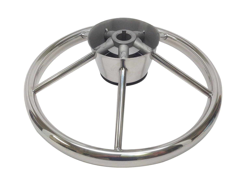 Amazon.com : Pactrade Marine 5 Spoke Stainless Steel Steering Wheel ...