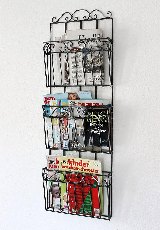 Zeitungsständer Magazinhalter Wandzeitungshalter Zeitschriftenständer ✅Metall