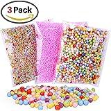 Homder 3 Pack Colorful Styrofoam Foam Balls,0.08-0.32 Inch,Fits for DIY Wedding & Party Decoration