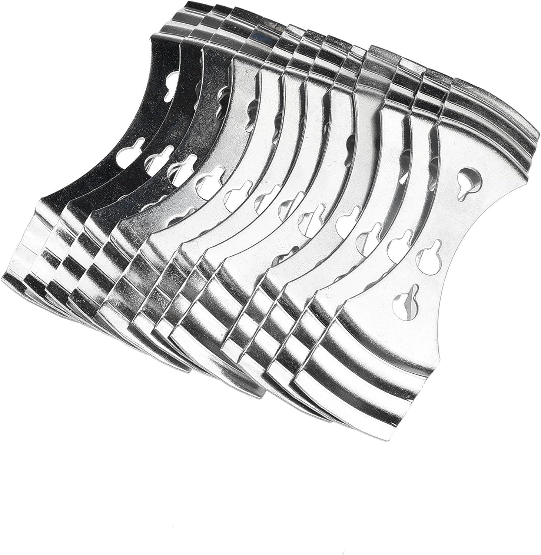 KAHEIGN 12 Piezas Centradores de Metal Para Mechas de Velas Acero Inoxidable, Plateado