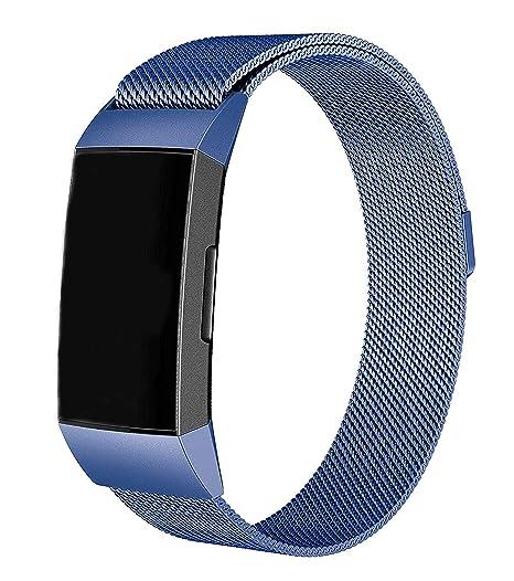Metall Fitbit Versa Ersatz Milanese Band Armband Sichere Armband