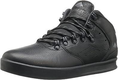 Zapatillas de Skateboarding de Otra Piel para Hombre Black,Gray,Khaki Happy-Day