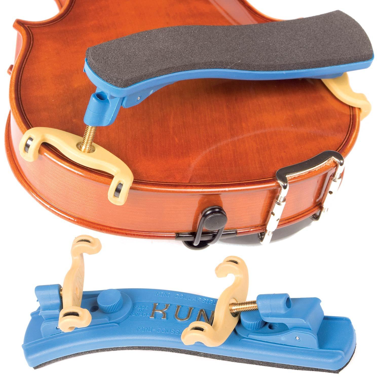 Kun Collapsible Mini Blue Shoulder Rest for 1/16 - 1/4 Violin BHBU0503A563