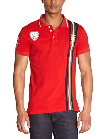 63ef4ebcd17 ... best gangster unit mens polo shirt red rouge red small brand 30efe 5a51f