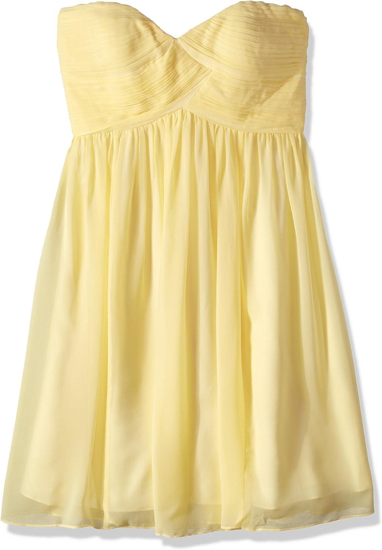Donna Morgan Women's Strapless Chiffon Sweetheart Japan's largest 25% OFF assortment Dress