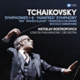 Tchaikovsky: Symphonies 1-6, Manfred Symphony, Francesca da Rimini, Romeo and Juliet fantasy overture, 1812, Rococo variations