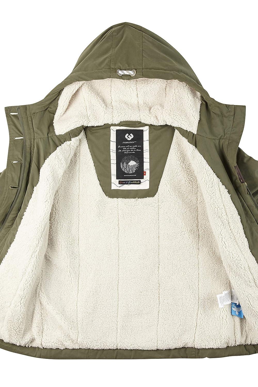 Ragwear Lynx Teddy Damen Frauen Winterjacke,durchg/ängig gef/üttert,wasserabweisend