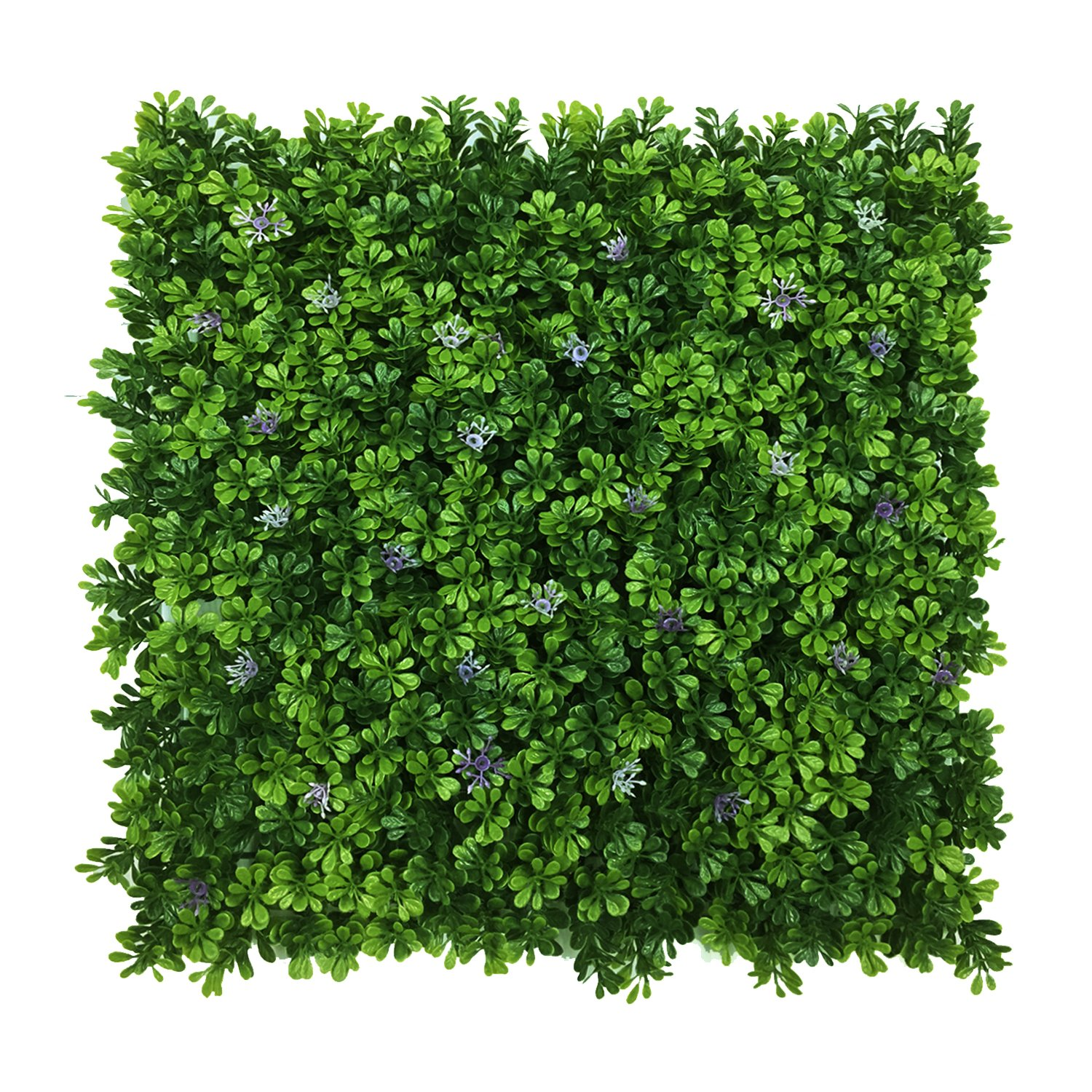 Artificial Boxwood Hedge Mats with Flowers Decoration/ Faux Greenery Panels for Indoor Plants Wall or Outdoor Fence 20''x 20'' Panels (Pack of 12) by BesameNature