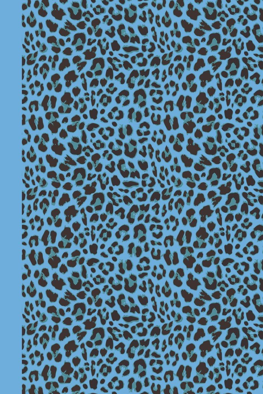 Journal Animal Print Blue Leopard 20x20   DOT JOURNAL   Journal ...