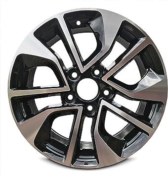 Amazon Com Road Ready Car Wheel For 2013 2015 Honda Civic 16 Black Machine Aluminum Rim Fits R16 Tire Exact Oem Replacement Full Size Spare Automotive