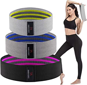 Hayousui Fabric Exercise Resistance Bands - Hip Booty Bands Stretch Workout Bands Cotton Resistance Band for Legs and Butt Body, Yoga Pilates Muscle Training