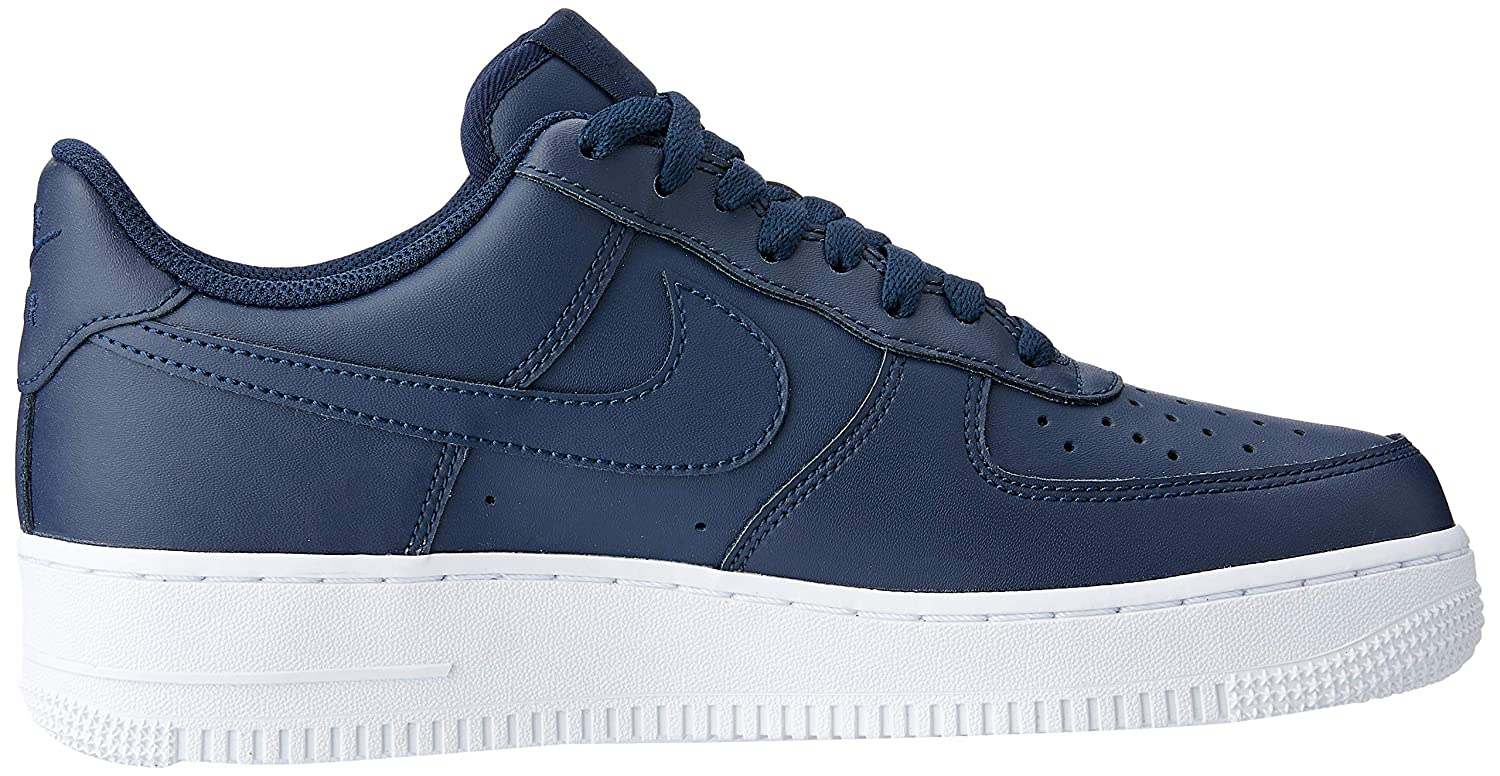competitive price 100f6 3689c Amazon.com   Nike Men s Air Force 1  07 Trainers, Blue (Obsidian Obsidian-White  400), 7.5 UK 42 EU   Basketball