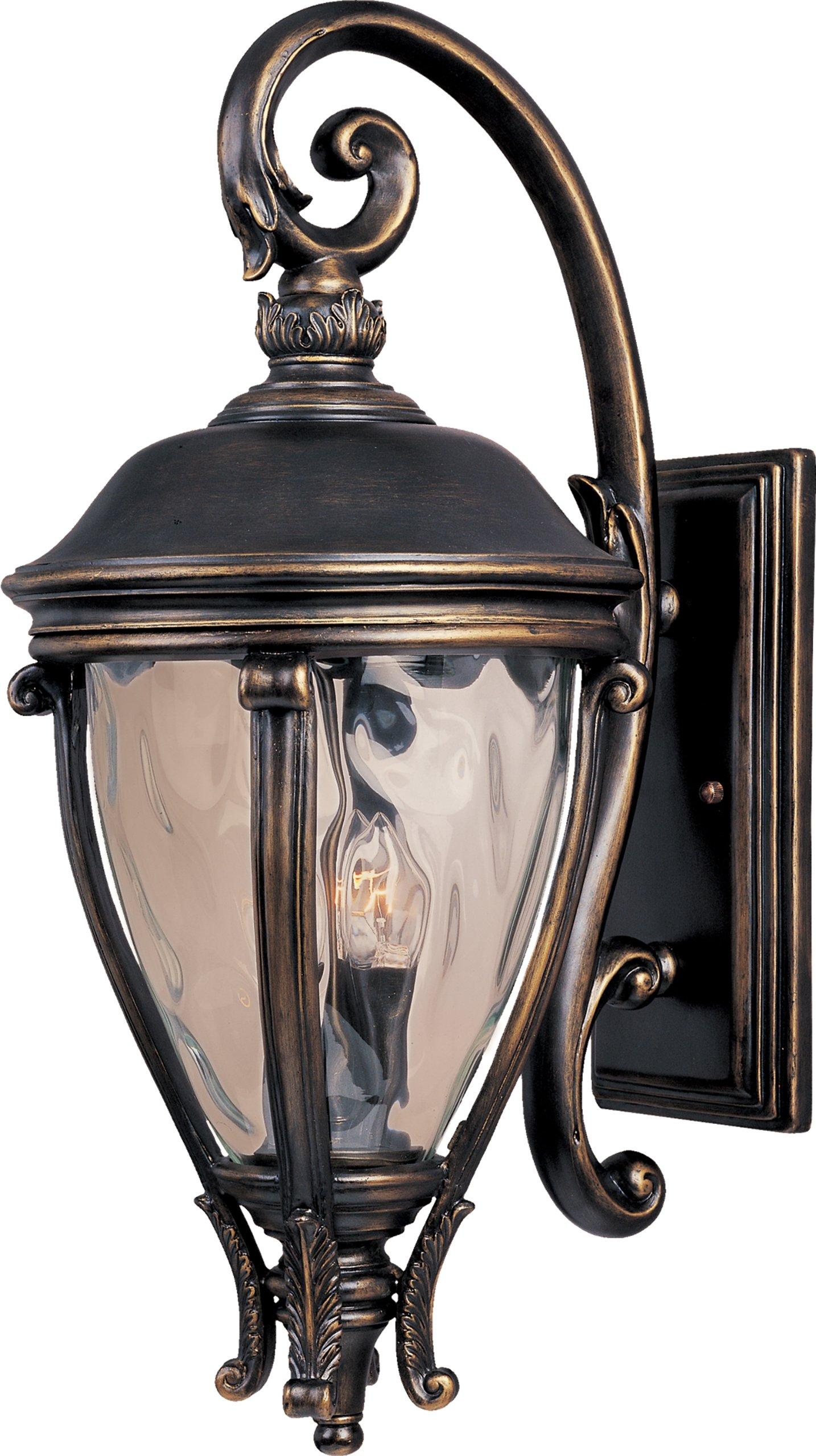 Maxim Lighting 41426WGGO Camden VX-Outdoor Wall Mount 3-Light Lantern