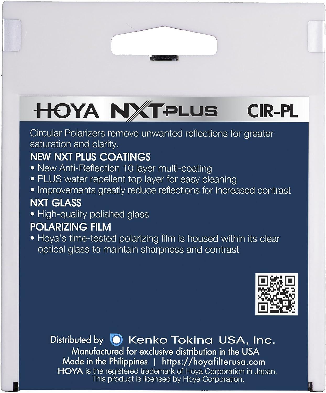 Hoya 37mm NXT Plus Circular Polarizer Slim Frame Glass Filter