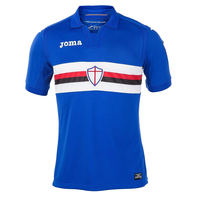 2017 – 2018 Sampdoria Jomaホームフットボールシャツ B07432B9MW XXL 44-46