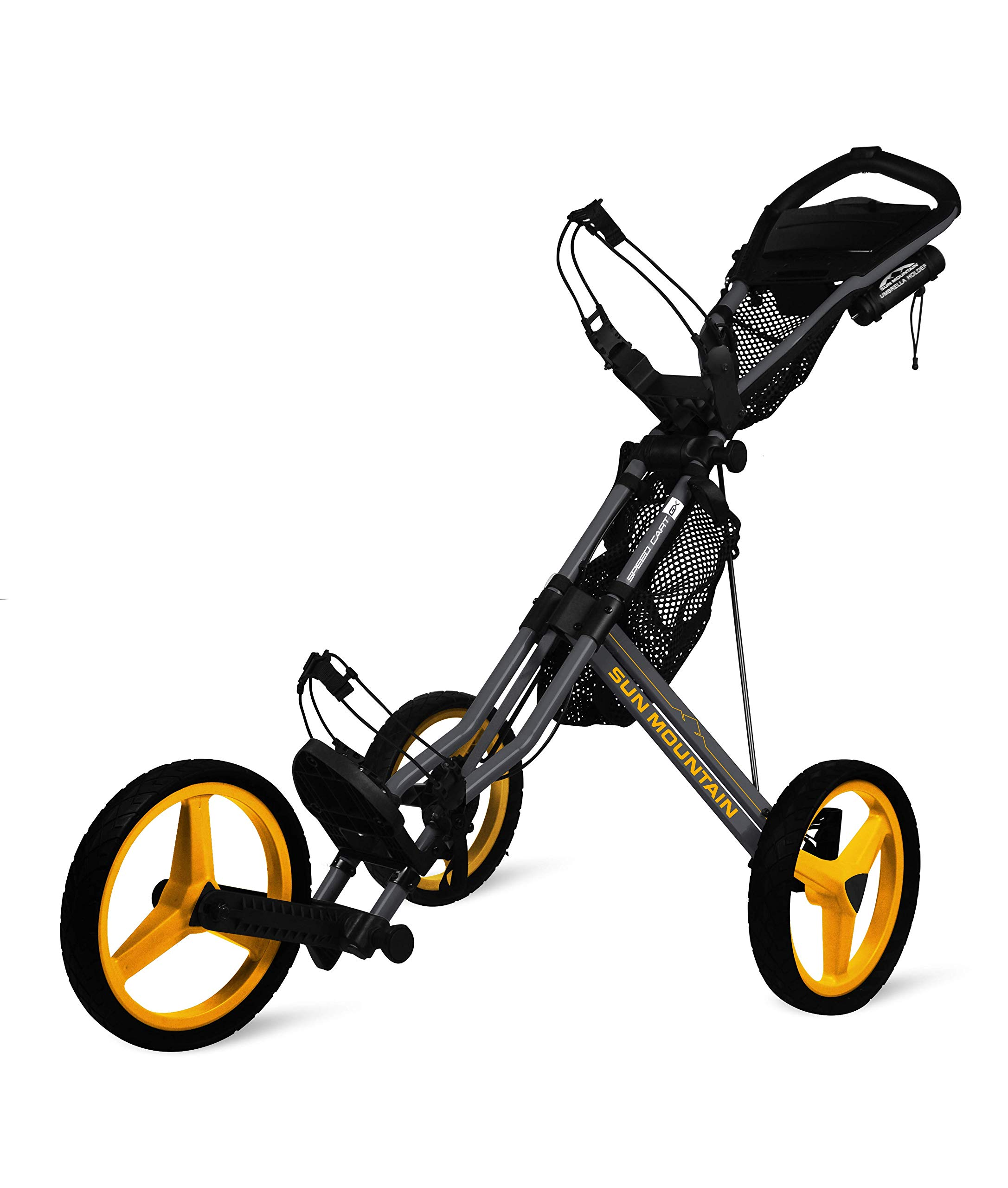 Sun Mountain Speed Cart Gx Push Cart Grey/Yellow
