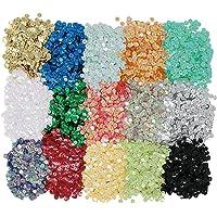 vapker 15colores 6mm Loose lentejuelas arco iris taza