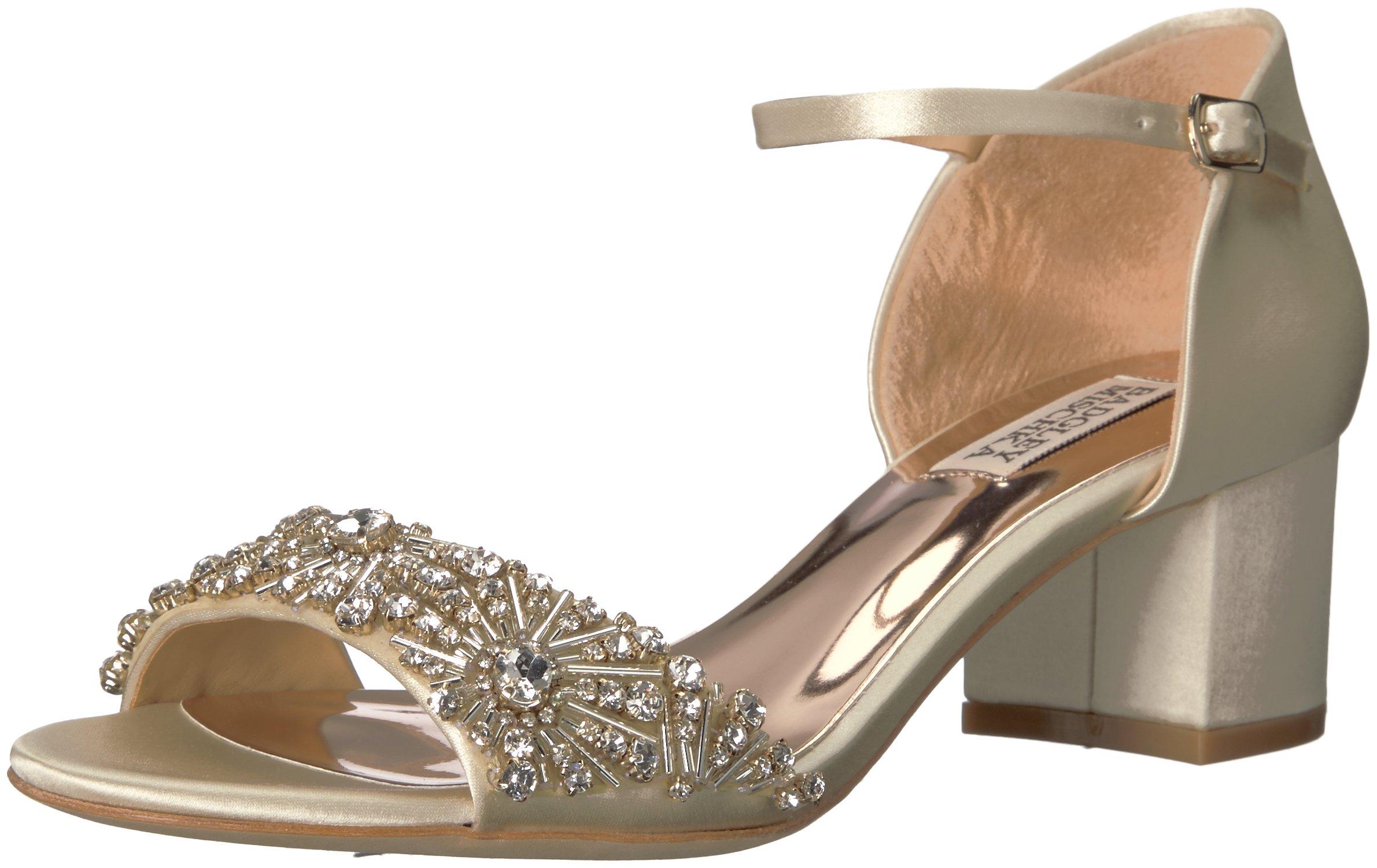 Badgley Mischka Women's Mareva Heeled Sandal, Ivory, 8.5 M US