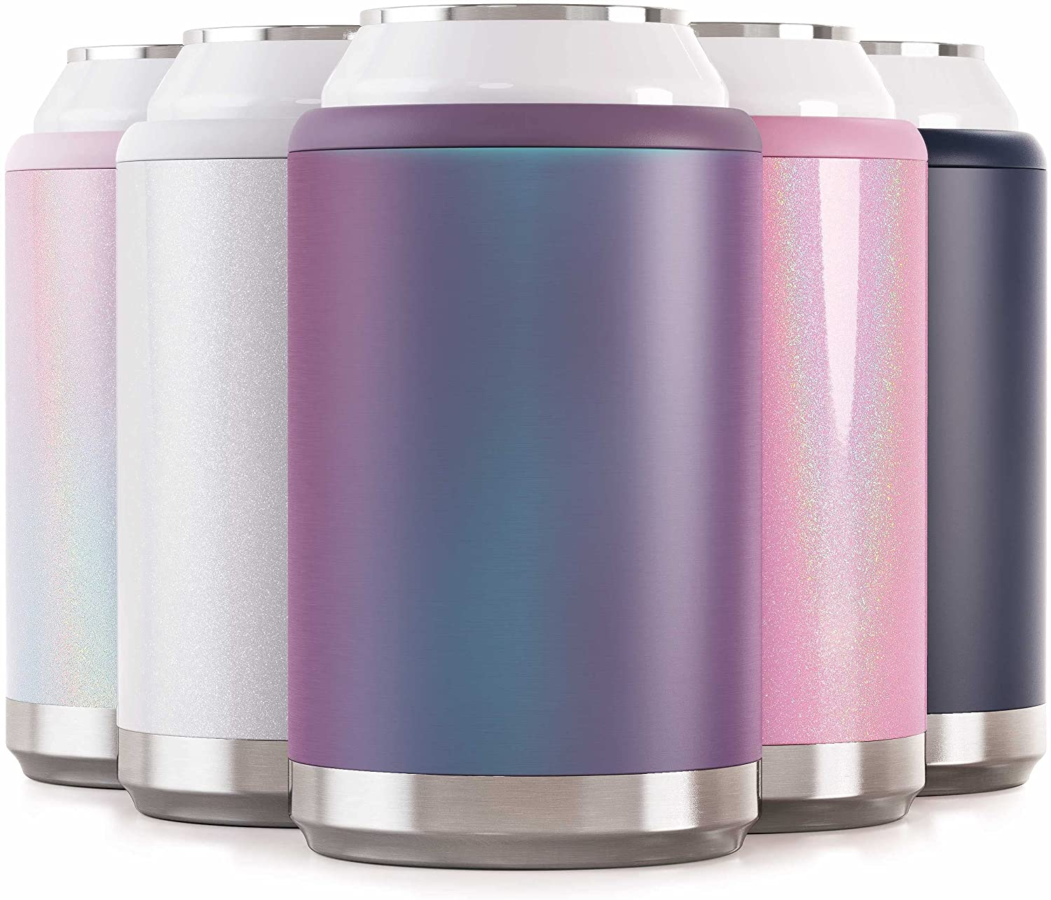 Maars Standard Can Cooler for Beer & Soda   Stainless Steel 12oz Beverage Sleeve, Double Wall Vacuum Insulated Drink Holder - Purple Haze