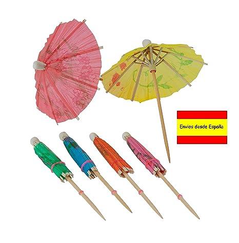 Compra Sombrilla Papel, Cóctel de Paraguas Mini Sombrillas ...