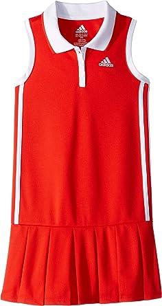 e99891406d6 adidas Kids Baby Girl's Sleeveless Polo Dress (Toddler/Little Kids) Red 2T  Toddler