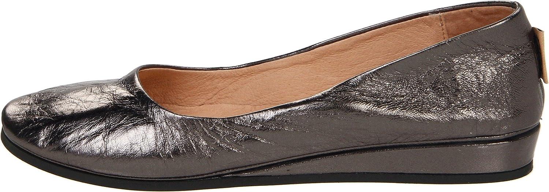 French Sole Women's Zeppa Slip on Shoes B00594IFTU 10 B(M) US|Gunmetal Nappa