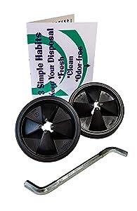 Insinkerator Sink Baffle (2) Quiet Collar Black 77960 Newest Version Bundle (4 Items)