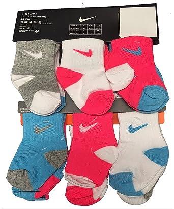 Nike Infantil/de bebé, 6 Pares Calcetines de la niña, Azul ...