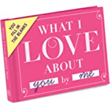 Knock Knock 50061 What I Love about You Fill in the Love Book Fill-in-the-Blank Gift Journal