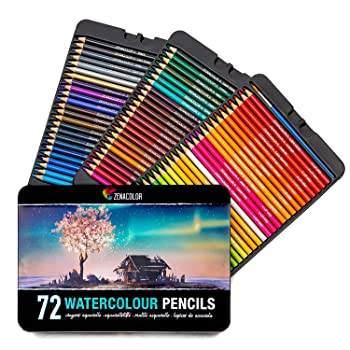 Zenacolor Set of 72 Watercolor Pencils