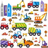 City Construction Decorative Peel & Stick Wall Art Sticker Decals