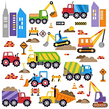 City Construction Decorative Peel U0026 Stick Wall Art Sticker Decals